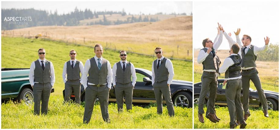 17  Kamloops wedding groomsmen portraits
