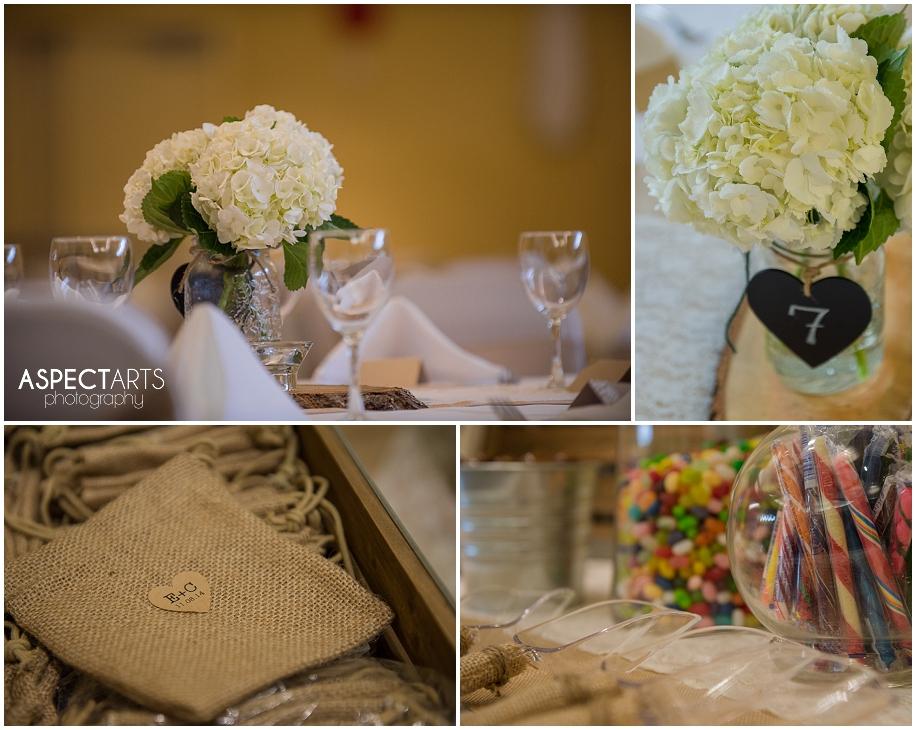 38 Quaaout Lodge wedding reception details