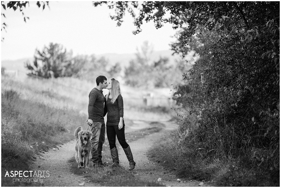 05 Kamloops engagement photographerbeautiful trail location couple with their dog