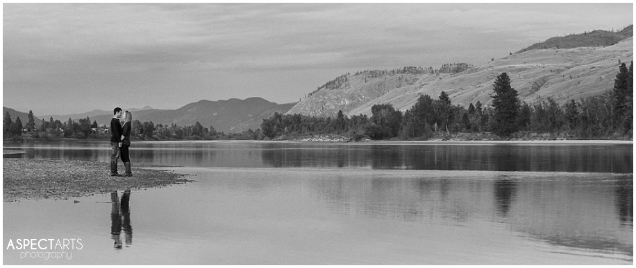 09 Kamloops engagement photographer water reflection