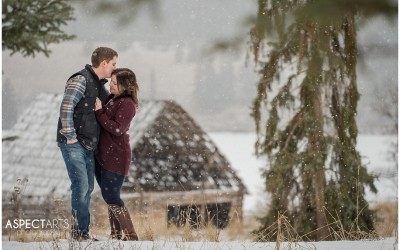 Winter Engagement Session – Natalie + Robin / Kamloops photographer