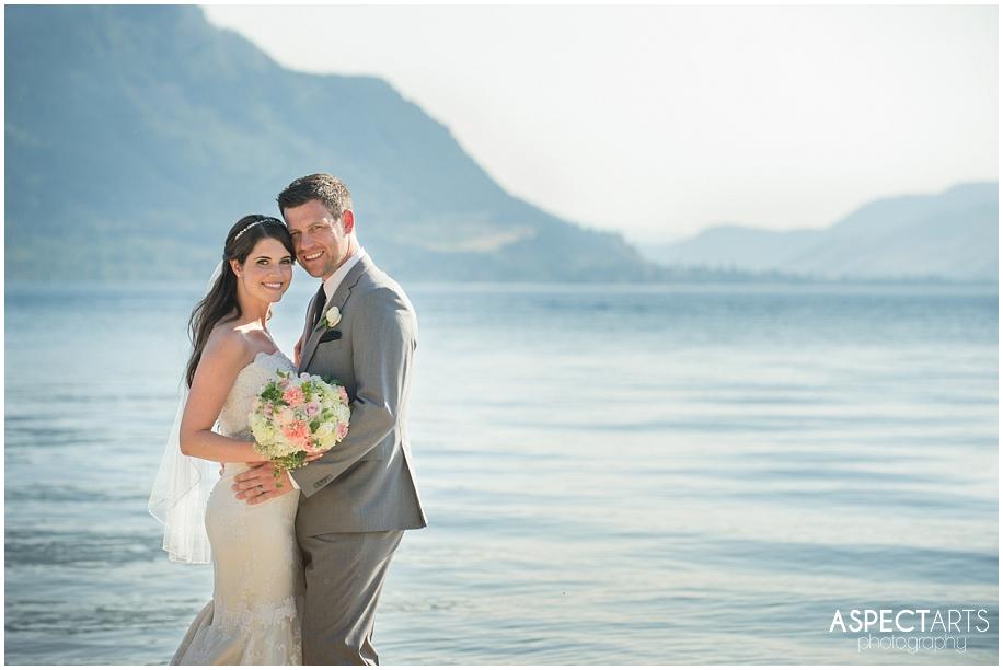 Quaaout Lodge lakeside summer wedding photographer mountains sunshine