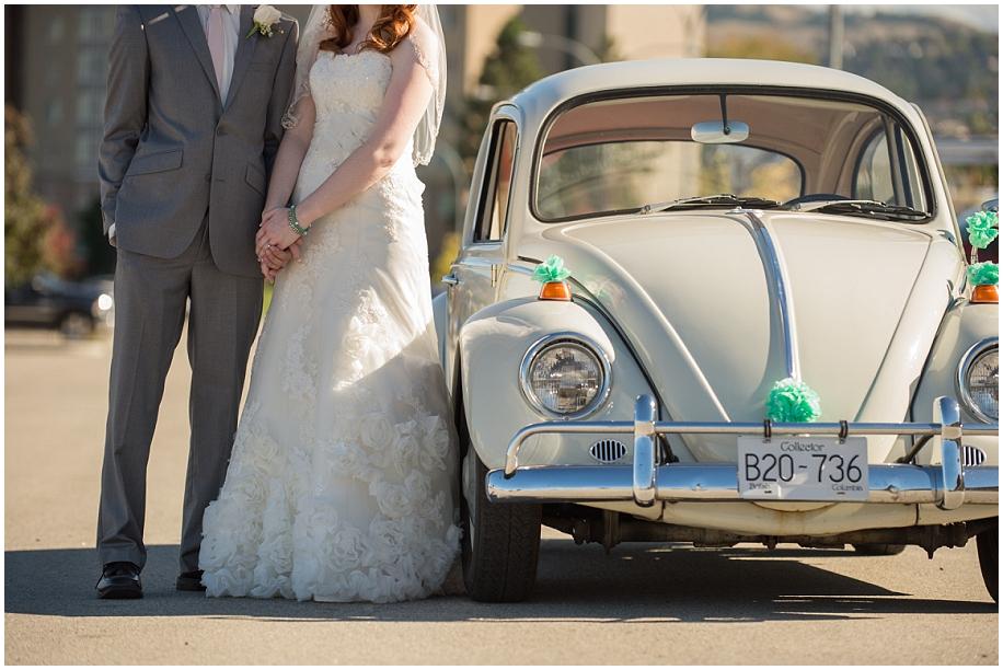 Kamloops vintage Wedding photographer detail shots VW bug couple TRU