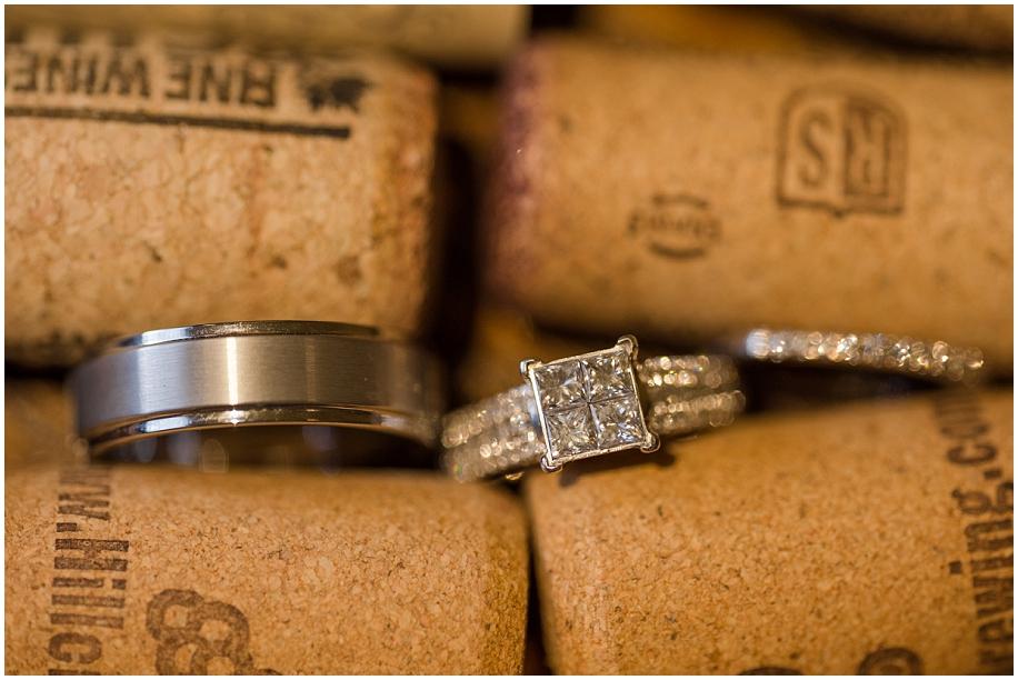 Okanagan Wedding photographer detail shots macro rings winery corks