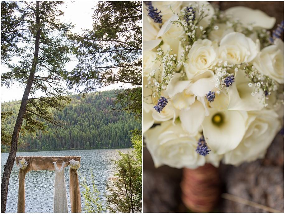 Okanagan Wedding photographer detail shots bouquet dress ceremony venue