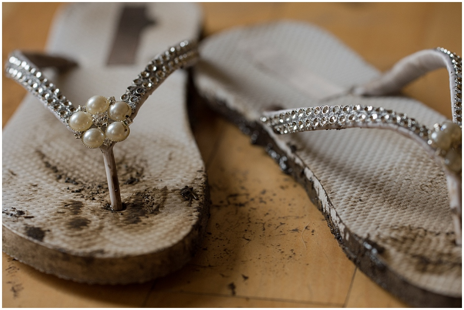 Kamloops wedding photography details muddy shoes