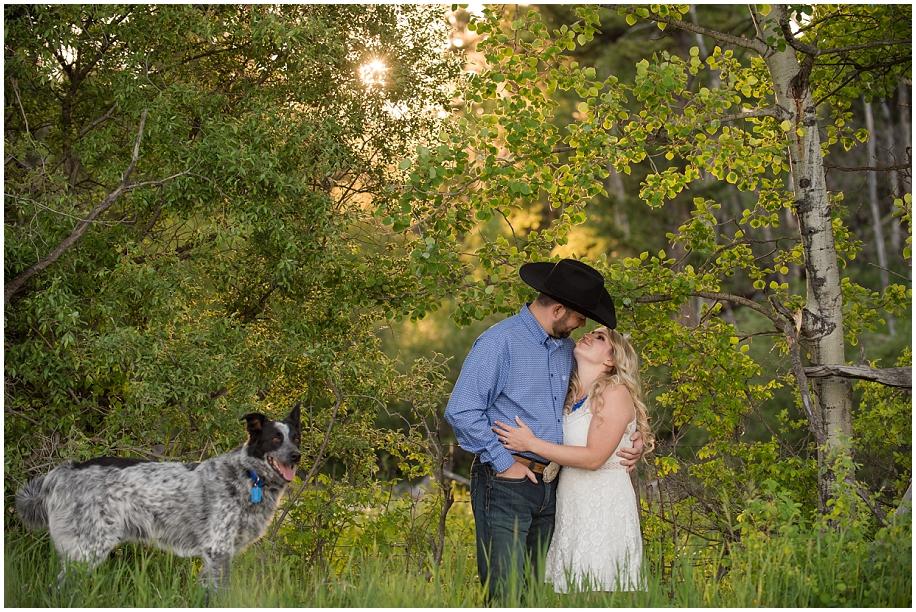 BC British Columbia cowboy engagement photographer golden hour sunshine