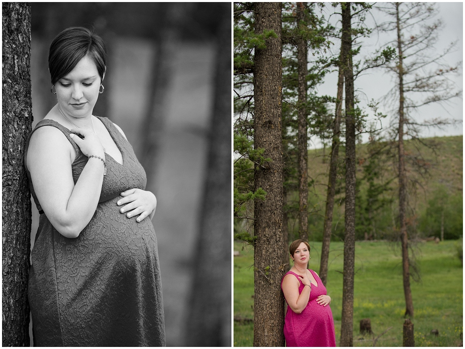 Kamloops maternity portrait photographer forest