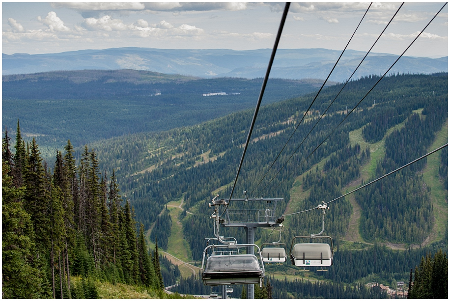 01 Sun Peaks session chair lift view