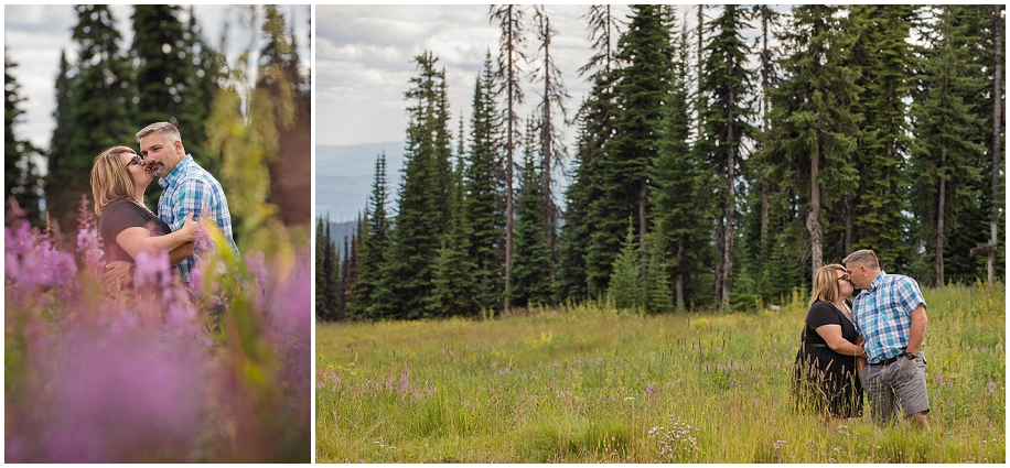 12 Sun Peaks photographer couple session meadow flowers