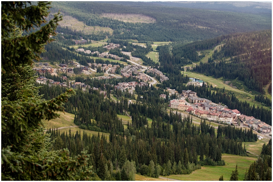 13 Sun Peaks photographer village view from the chair lift