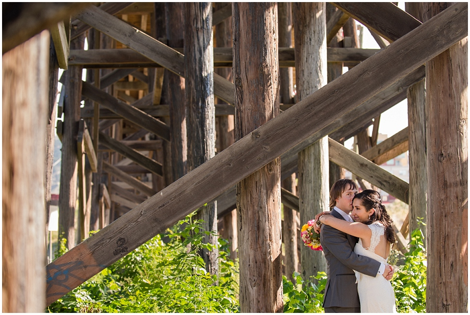 16 Okanagan wedding photographer bridge bride groom