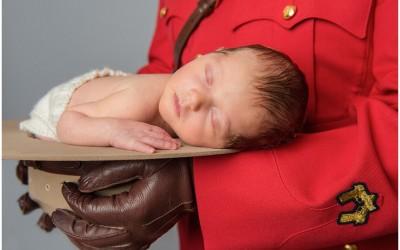 RCMP newborn family session | Kamloops photographer