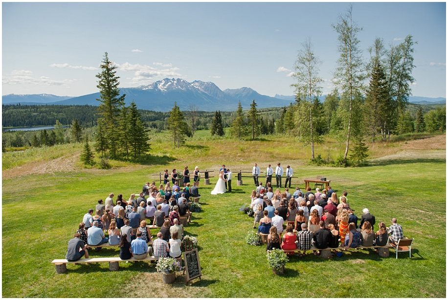 Smithers BC Wedding Hilltop Mountaintop Views Hudson Bay Outdoor Ceremony