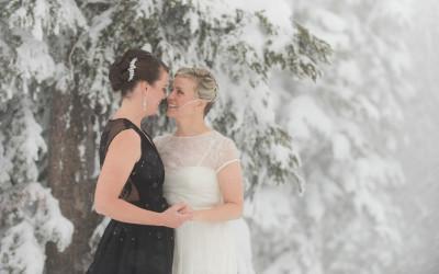 Bec + Liz – Delta Sun Peaks winter wedding