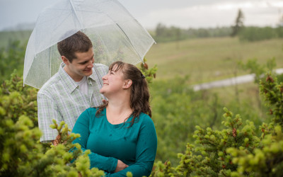 Melissa + Aaron – Engagement Session in the rain