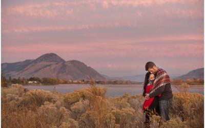 Engagement session at sunset in Kamloops | Kamloops photographer | Carlene + Chris