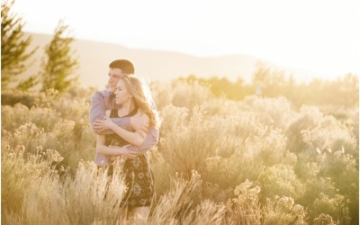 Romantic spring engagement session | Kamloops photographer