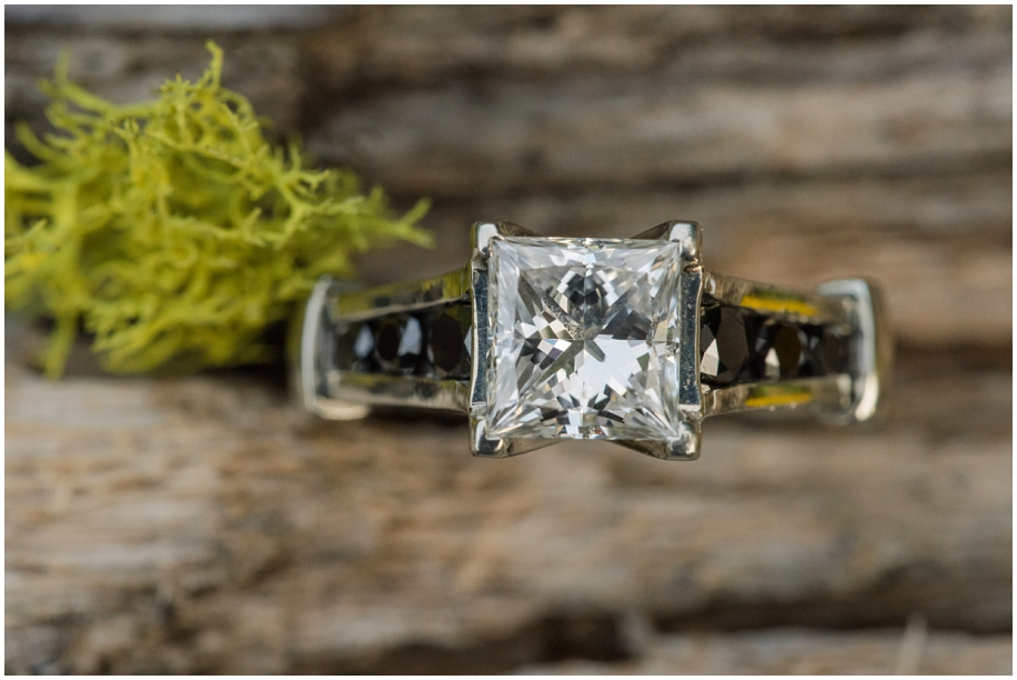 Kamloops wedding photographer engagement ring macro shot