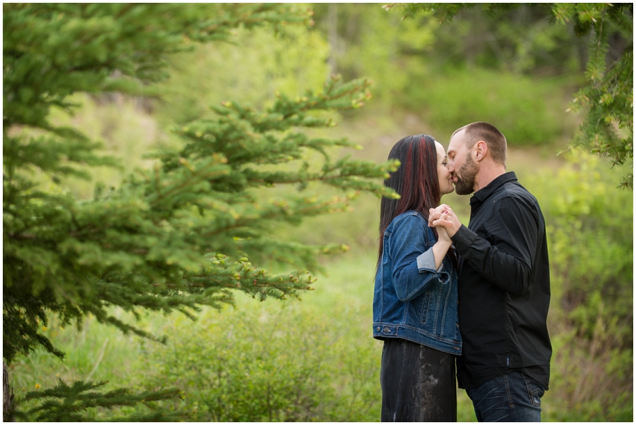 Kamloops wedding photographer Harper Mountain engagement session standing pose