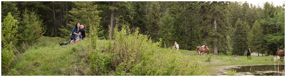Kamloops wedding photographer Harper Mountain engagement session wild horses