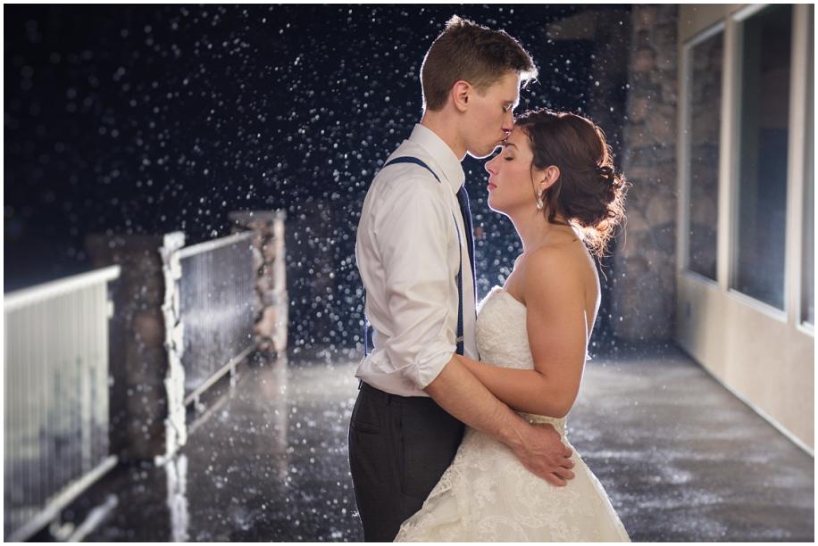 Thompson Okanagan wedding photographer The Dunes rain portrait night bride groom romantic