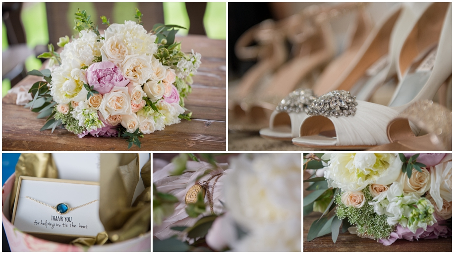 Kamloops wedding photographer florals shoes bling details blush white decor Brandy Maddison Events peonies roses