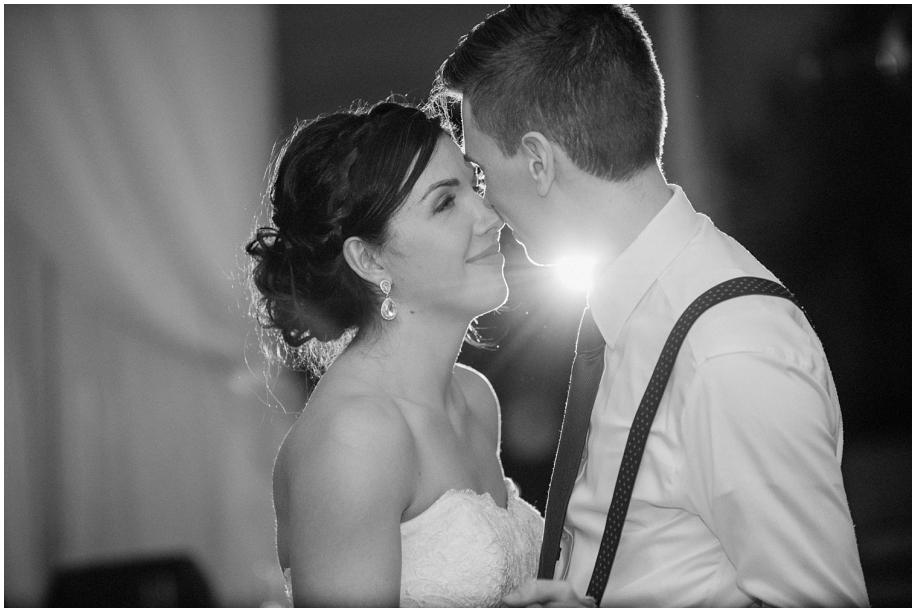 Okanagan documentary wedding photography first dance lighting The Dunes Golf Course reception