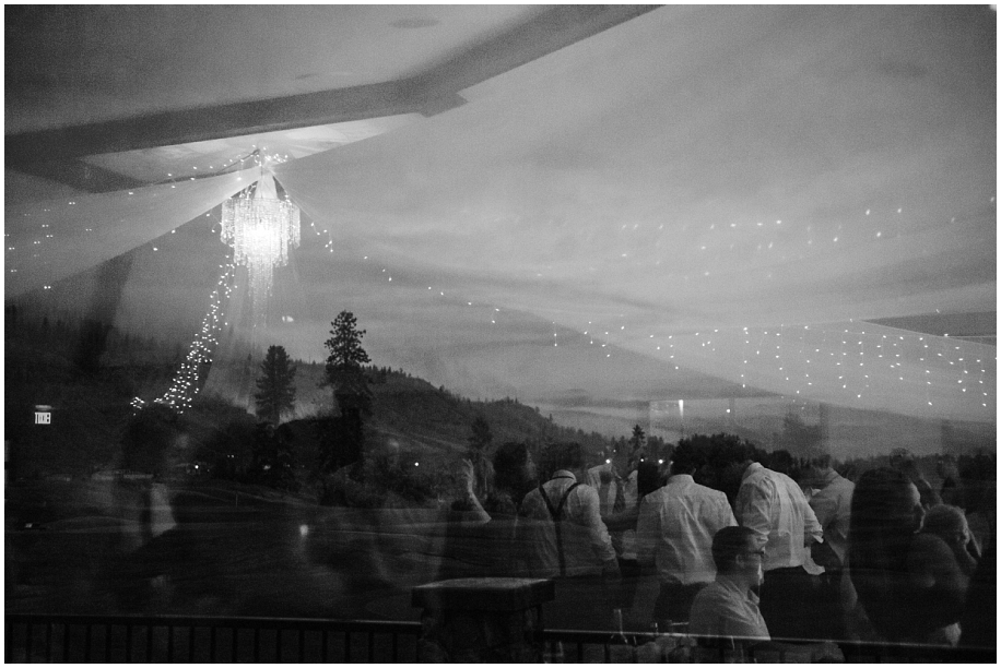 Kamloops creative wedding photography The Dunes Golf Course reception black white artistic