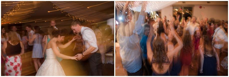Kamloops wedding photographer The Dunes reception party dancing shutter drag artistic