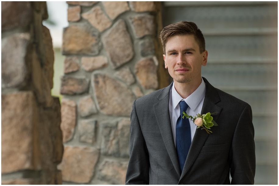 Kamloops Thompson Okanagan wedding photographer The Dunes bridal portraits rain groom