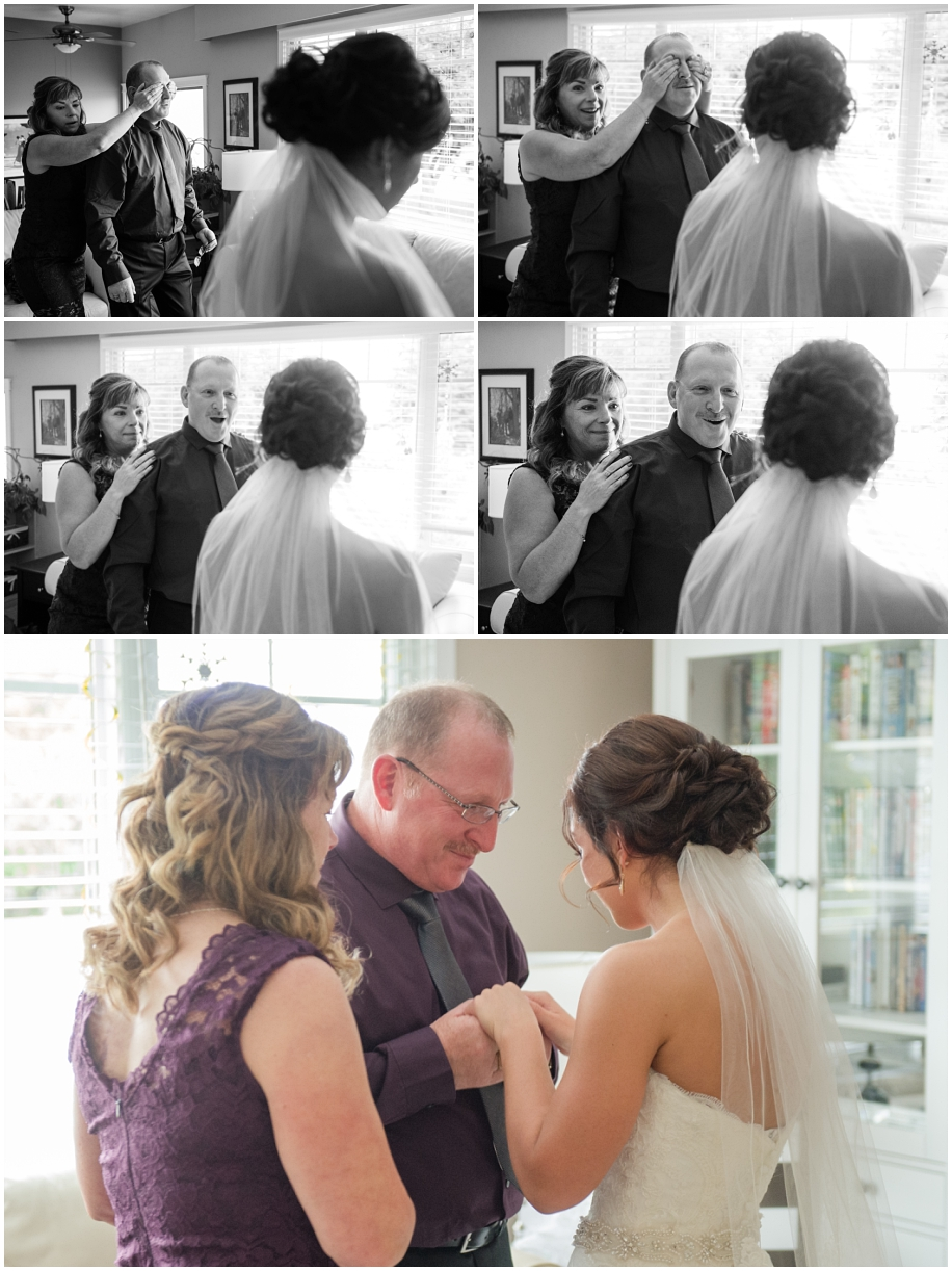 Thompson Okanagan wedding photography father daughter first look documentary