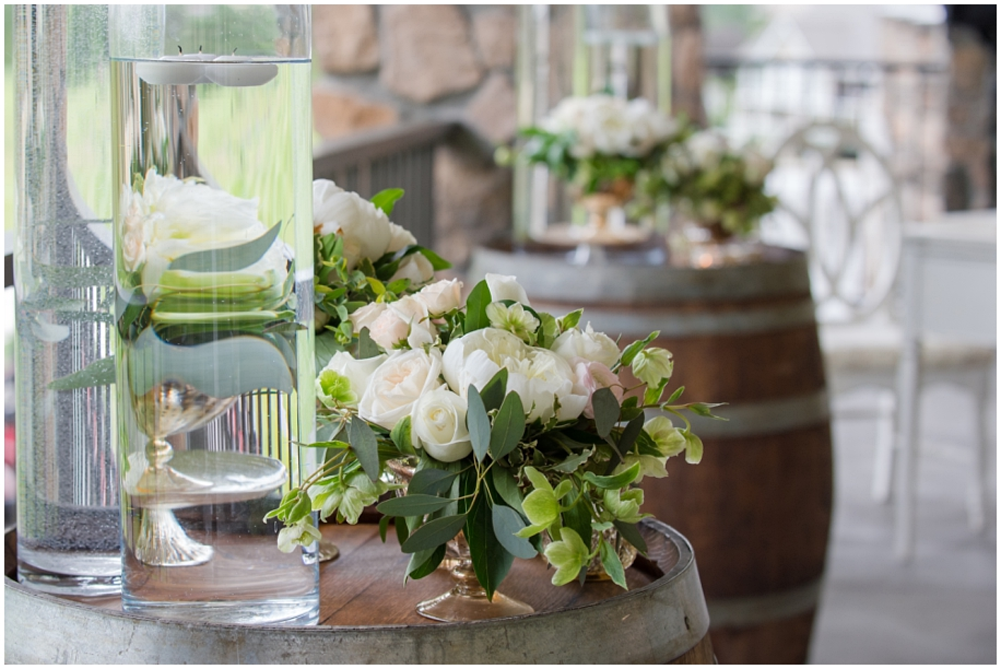 Thompson Okanagan wedding photographer The Dunes ceremony details blush gold green florals decor