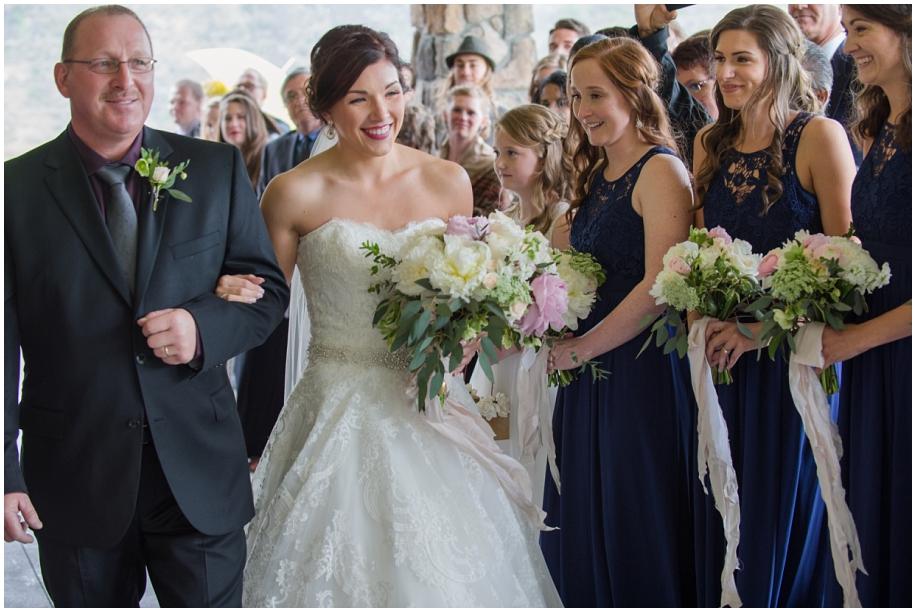 BC Interior wedding The Dunes Kamloops ceremony rain bride