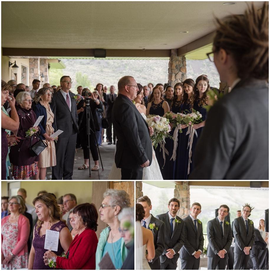 British Columbia wedding photographer The Dunes Kamloops ceremony rain