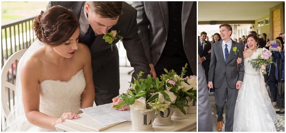 BC Interior wedding photographer The Dunes Kamloops ceremony rain