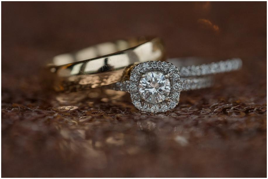 Kamloops documentary wedding photographer The Dunes details macro wedding ring shot