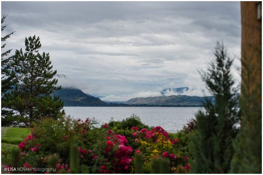 Outdoor Shuswap Lake Summer wedding Quaaout Lodge the view