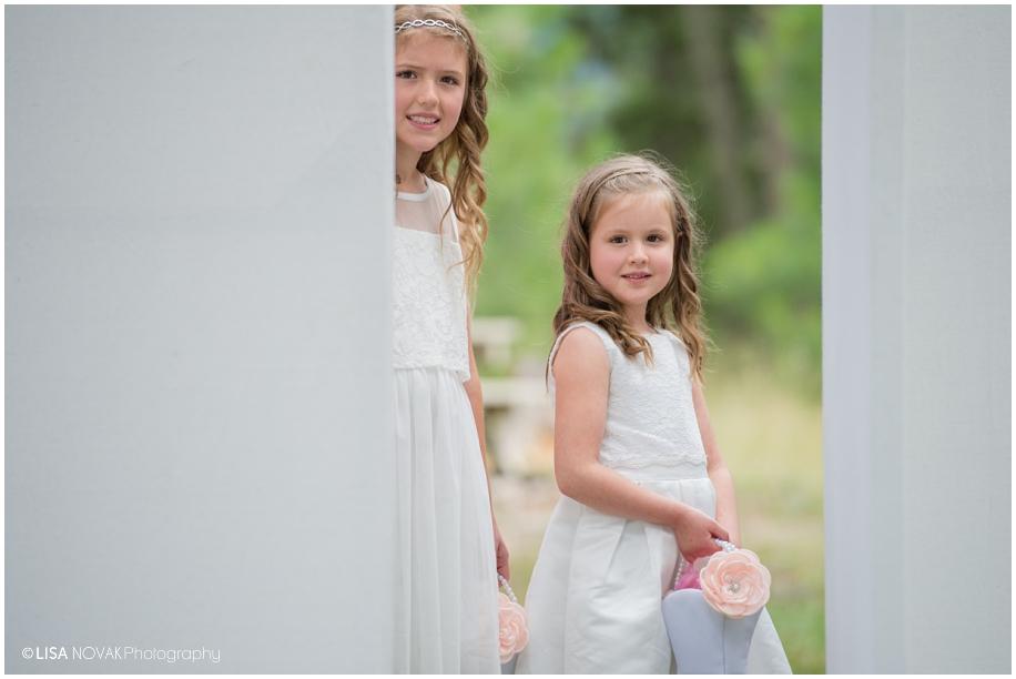 BC wedding photographer Quaaout Lodge ceremony flower girls