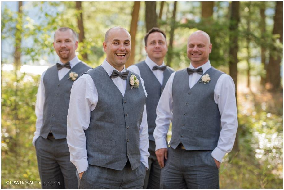 Okanagan wedding photograhper Shuswap Lake groomsmen portrait pose BC interior photography