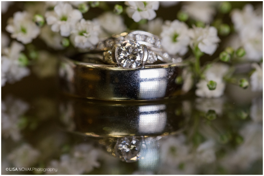 wedding ring macro shot babys breath creative photography BC interior Quaaout Lodge bling