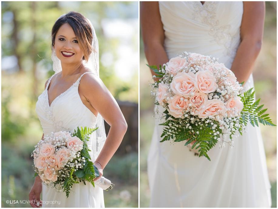 romantic outdoor bridal portait bride Shuswap Lake Summer wedding Quaaout Lodge