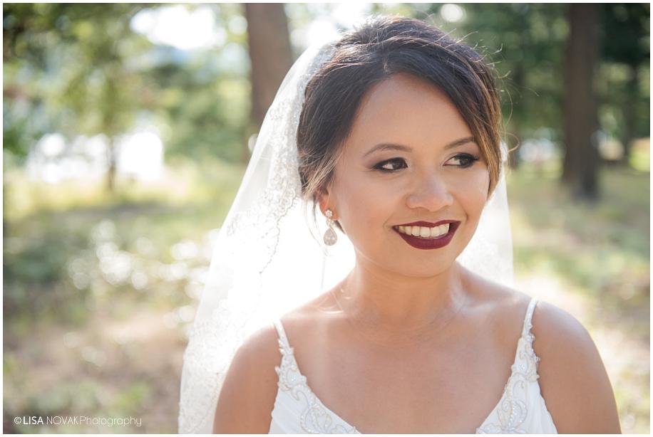 gorgeous outdoor bridal portait bride Shuswap Lake Summer wedding Quaaout Lodge