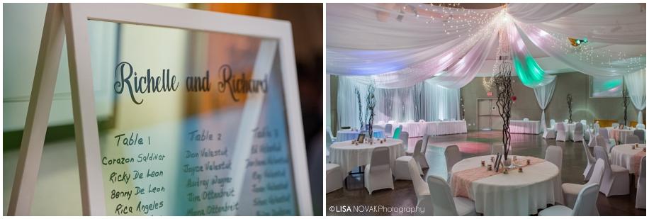 BC wedding photographer reception details
