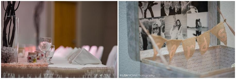 Beautiful Shuswap Lake wedding decor card box head table