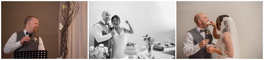 Beautiful Shuswap Lake wedding BC photographer wedding reception Quaaout Lodge speeches cake cutting
