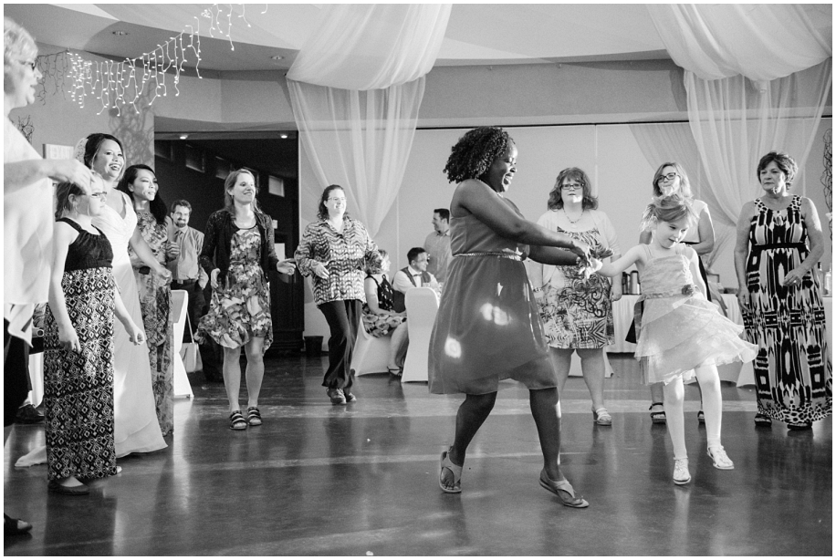 BC photographer wedding reception Quaaout Lodge dancing party