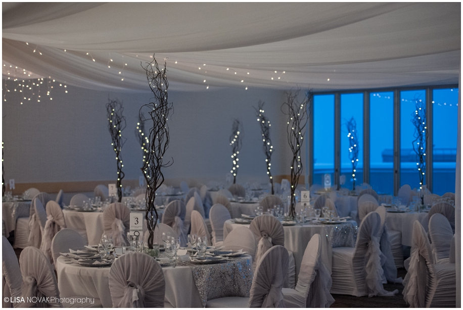 38 Elegant Romantic Wedding Reception Decor Lights Grey White