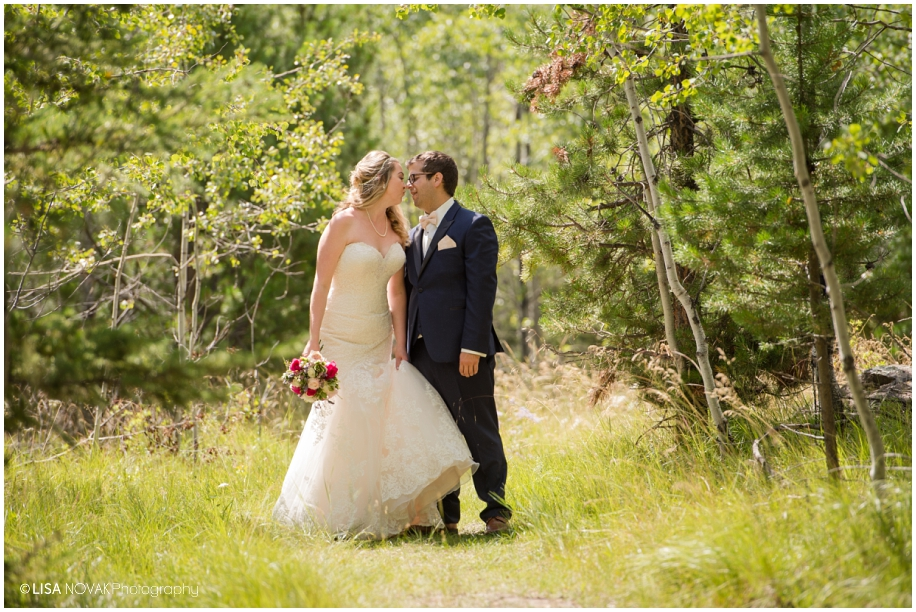 Forest mountain wedding bridal portrait - Big Bar Lake BC photographer Lisa Novak