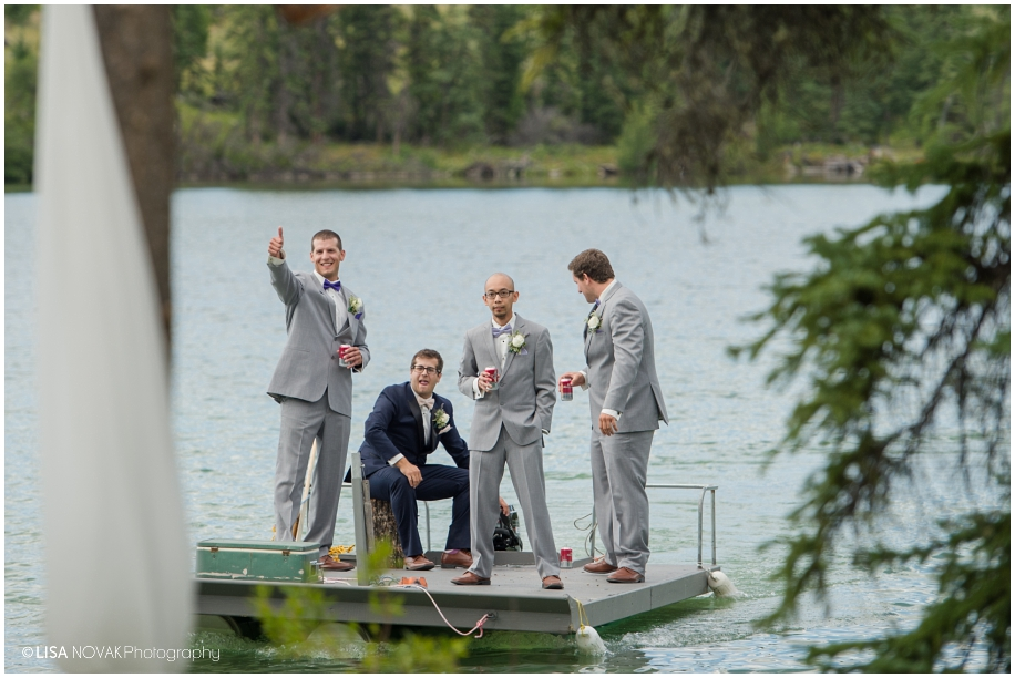 Lakeside wedding - Big Bar Lake BC photographer Lisa Novak